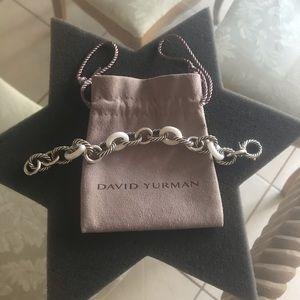 David Yurman Porcelain and Silver  Link Bracelet
